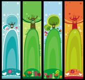 Seasonal banners. Colorful set of seasonal, natural banners, with space for your text Stock Photo