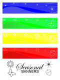 Seasonal banners. In bright colors Stock Photography