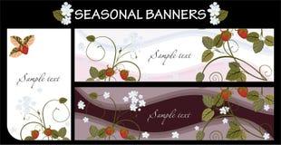 Seasonal banners. Vector set of seasonal banners or backgrounds Stock Photography