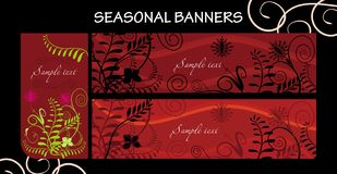 Seasonal banners. Vector drawing of seasonal banners - summer Royalty Free Stock Photography