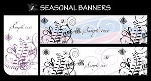 Seasonal banners. Vector drawing of seasonal banners - spring Royalty Free Stock Images