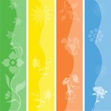 Seasonal Banners / Bookmarks Set. Pretty colorful banners / bookmarks representing the four seasons, autumn / fall, spring, summer and winter Royalty Free Stock Photography