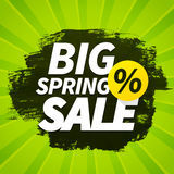 Seasonal big spring sales business background Stock Photo