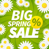 Seasonal big spring sales business background Stock Images