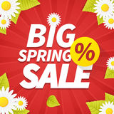 Seasonal big spring sales business background Stock Image