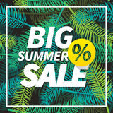 Seasonal big summer sale business background Stock Photos