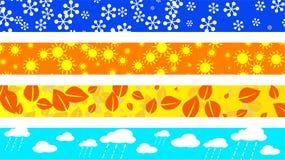 Seasonal borders Royalty Free Stock Image