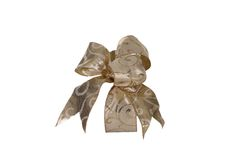 Seasonal Bow Side View Royalty Free Stock Photography