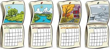 Seasonal Calendars Royalty Free Stock Photography