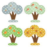 Seasonal cartoon trees Royalty Free Stock Image