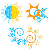 Seasonal changes. Vector illustration for web banner, and mobile, info graphics - Illustration Royalty Free Stock Photography
