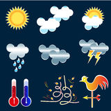 Seasonal changes weather icons Royalty Free Stock Photography
