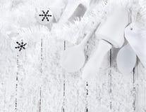 Seasonal Christmas all white winter baking Stock Images