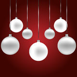 Seasonal christmas background with bauble decoration Stock Photos