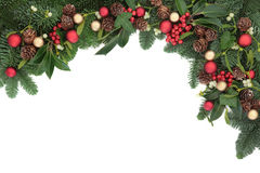 Seasonal Christmas Border Royalty Free Stock Images