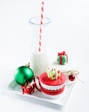Seasonal christmas cupcake Stock Photo