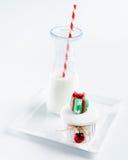 Seasonal christmas cupcake Royalty Free Stock Image
