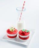 Seasonal christmas cupcake Royalty Free Stock Photography