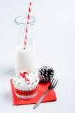 Seasonal christmas cupcake Royalty Free Stock Photo