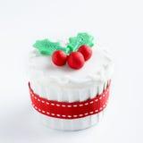 Seasonal christmas cupcake Stock Photos