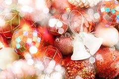 Seasonal Christmas decoration background Stock Photos