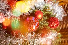 Seasonal Christmas decoration background Royalty Free Stock Photos