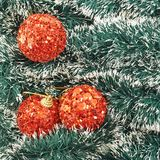 Seasonal Christmas decoration background Royalty Free Stock Images