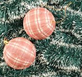 Seasonal Christmas decoration background Royalty Free Stock Image