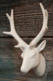White ceramic deer or reindeer head decoration Stock Image