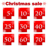 Seasonal christmas sale Royalty Free Stock Photos