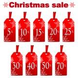 Seasonal christmas sale Stock Image