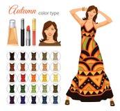 Seasonal color palette for autumn type. Royalty Free Stock Photos