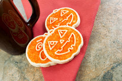 Seasonal Cookies and Drink Royalty Free Stock Photo