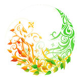 Seasonal cycle. Spring autumn. Seasonal cycle from spring into autumn. Timeline concept stock illustration