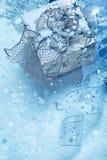 Seasonal decoration over snow Royalty Free Stock Image
