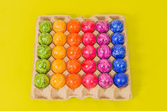 Seasonal - Easter - Coloured Eggs stock photography