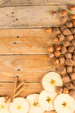 Seasonal food background Royalty Free Stock Photography