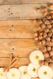 Seasonal food background royalty free stock photography