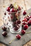 Seasonal fresh cherry fruit Stock Photos
