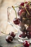 Seasonal fresh cherry fruit Stock Photography