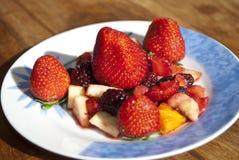 Seasonal fresh  fruit Stock Photos