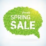 Seasonal fresh spring sale speech bubble business background royalty free illustration
