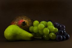 Seasonal Fruit. Classic composition with autumnal fruits Stock Images