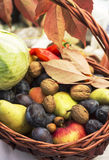 Seasonal fruit products in a cart Stock Photo