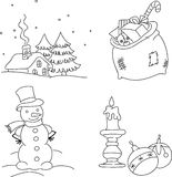 Seasonal hand drawn elements Royalty Free Stock Photo