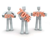 Seasonal or Holiday Sales Percentage Stock Image