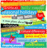 Seasonal Holiday Word Cloud Royalty Free Stock Photo