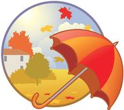 Seasonal icon - autumn Royalty Free Stock Photos