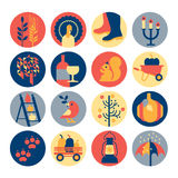 Seasonal icon set Stock Images