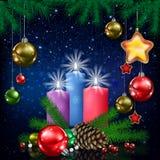 Christmas card illustration  Stock Photo